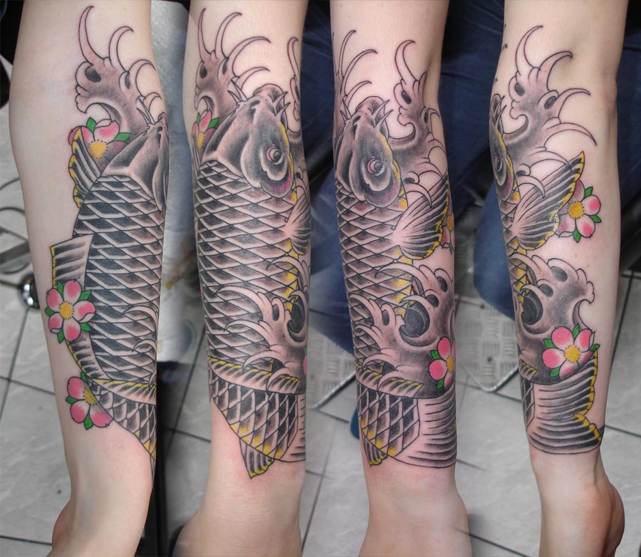 Idee Tatouage Carpe Koi Avant Bras Modele De Tattoo 310251