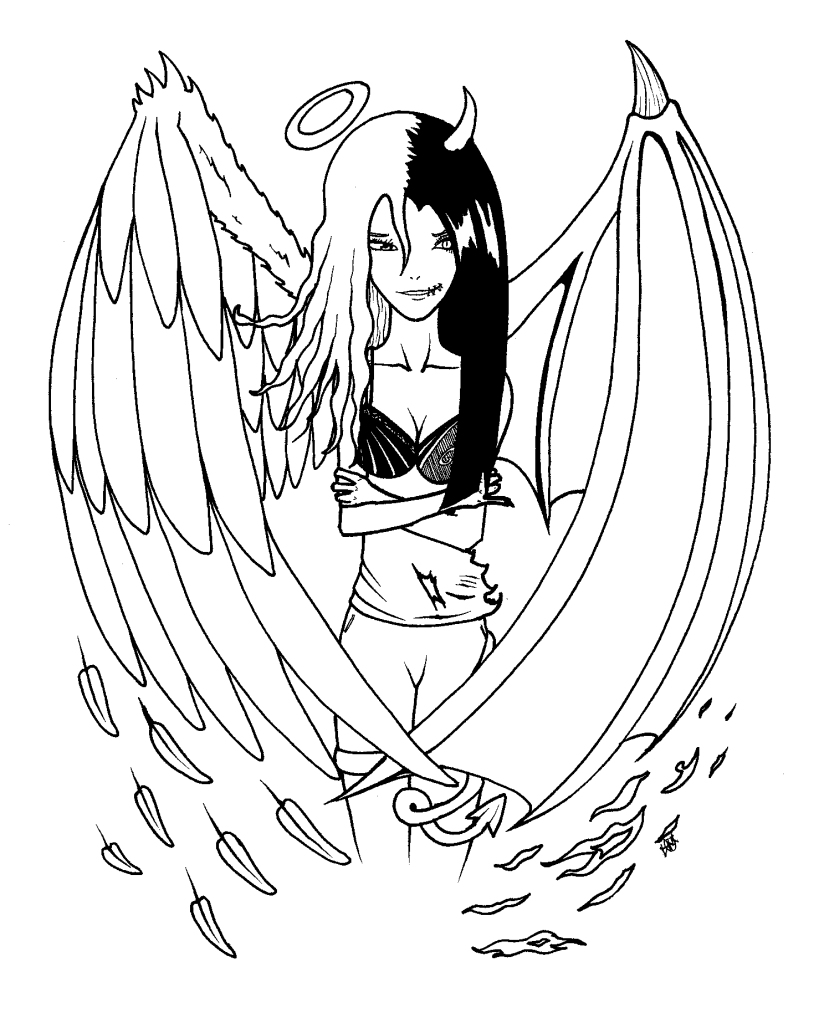 Idee Tatouage Mi Ange Mi Demon Modele De Tattoo 344213